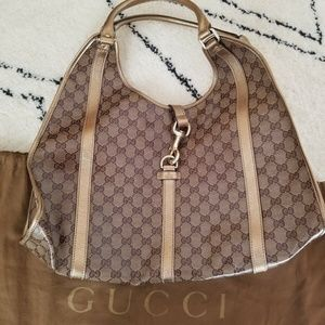 Authentic Gucci GG Crystal Joy D-Ring Large Bardot